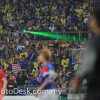 Laser-culprit caught on photo during Malaysia vs Singapore match