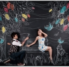 Most Creative Chalk Art Pre-Wedding Photo Shoot by Redd Bullets – Joey Khor & Regine Seet