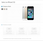 Apple Store Malaysia List Price of iPhone 5S from RM2,399, and iPhone 5C from RM1,999