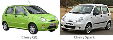 Chery QQ and Chevy Spark