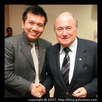 Myself & FIFA President Mr. Joseph S. Blatter