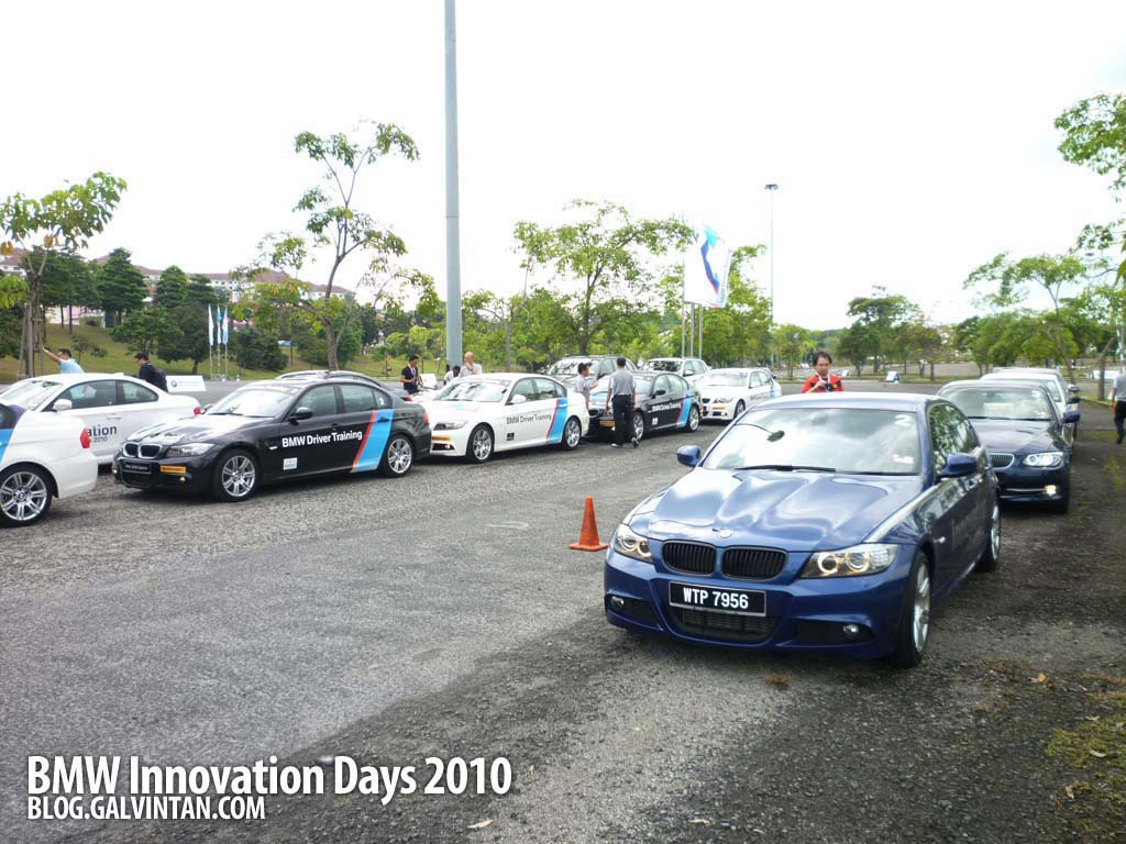 At our destination. Our 320d Sports awaiting