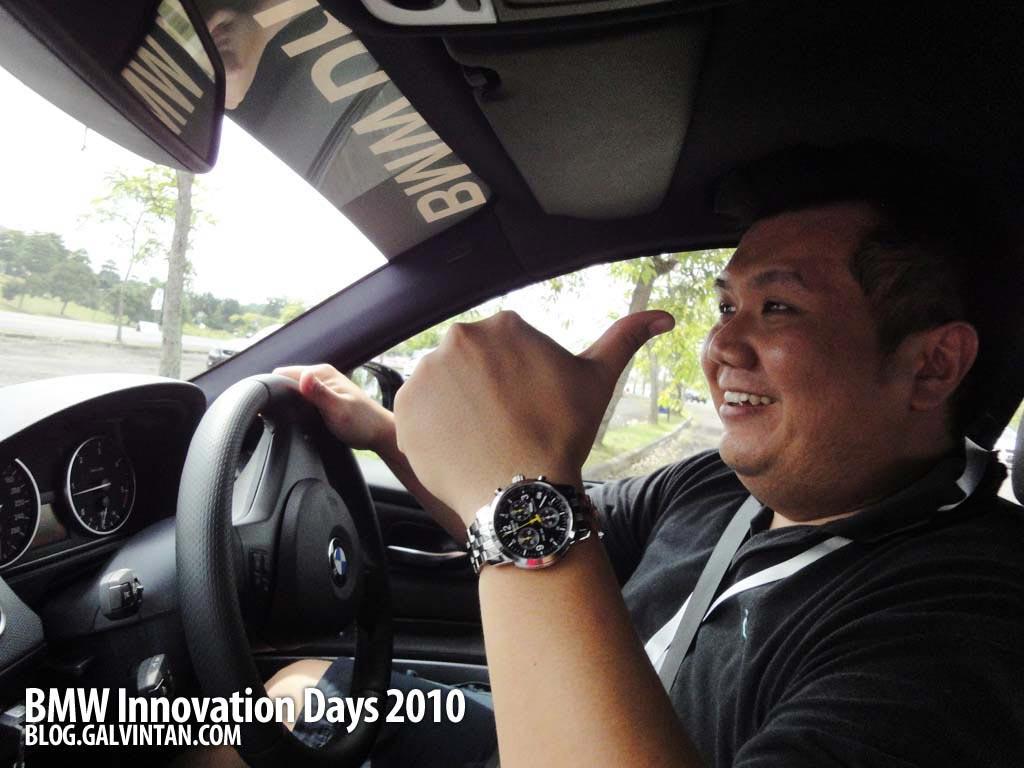 Having fun during the BMW training skill test