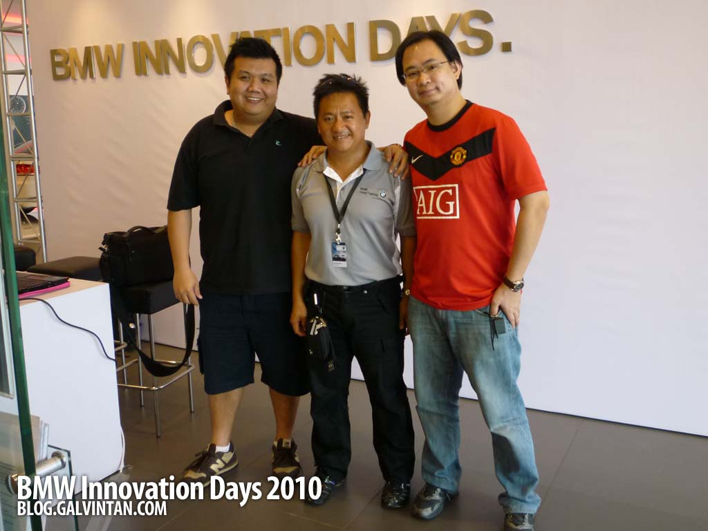 Ivan Kong (C), our guide and mentor for the day
