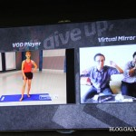 Virtual Mirror makes exercising fun.