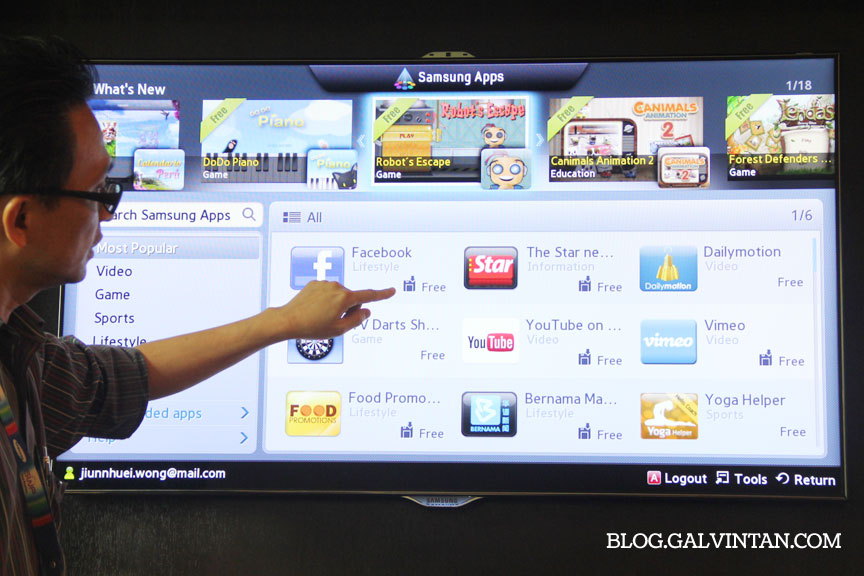 Up Close and Personal with Samsung ES8000 LED SMART TV