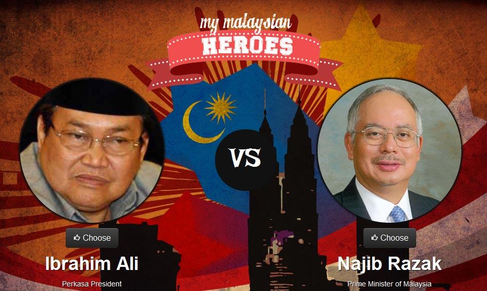 Ibrahim Ali vs Najib Razak