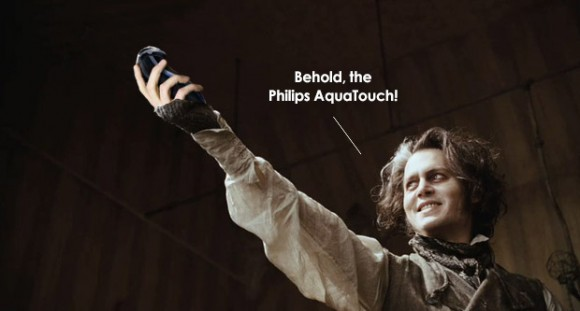 Sweeney Todd with the Philips AquaTouch?