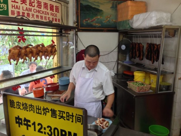 Dato preparing the dishes