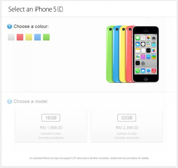 Apple Store Malaysia - iPhone 5C