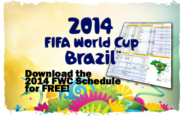 2014 FIFA World Cup Brazil Schedule