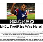 Angry Malaysian football fans hack Singapore website