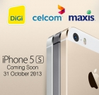 Celcom, DiGi and Maxis Launched Registration of Interest Site for iPhone 5S and iPhone 5C